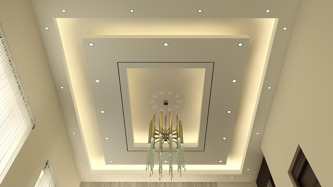 false ceiling with light