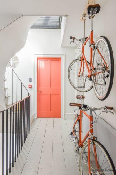 coral colored door