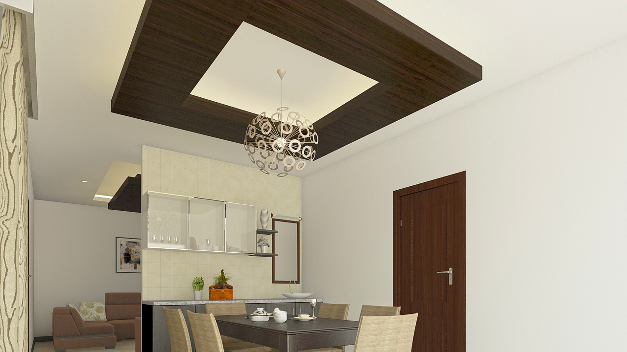 false ceiling design with grooves