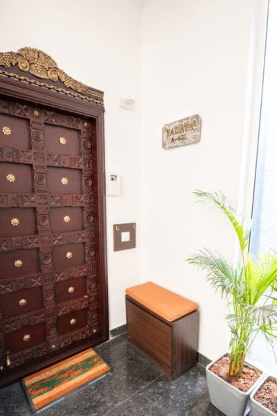 wooden carved entrance door