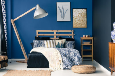 blue wall paint for bedrooms