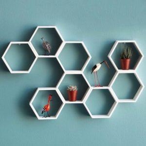 hexagonal wall decor for interiors