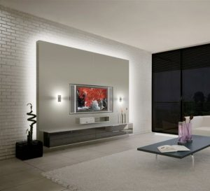 lighting ideas for TV stand