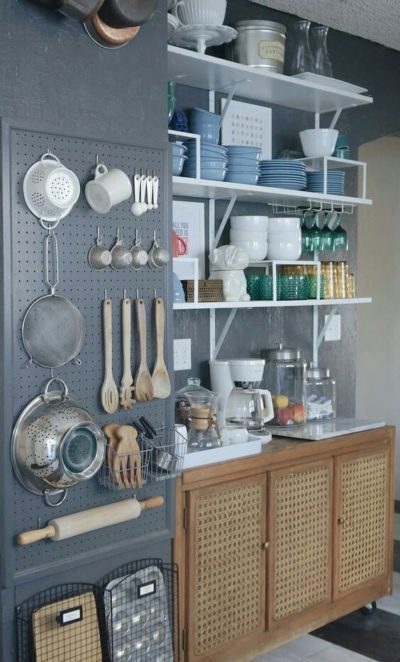 pegboard ideas for small kitchen