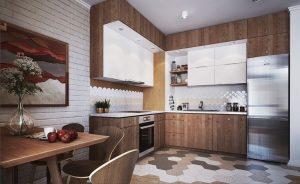 l shaped modular kitchen type