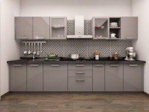 straight type modular kitchen