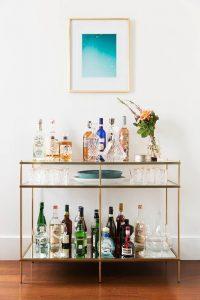 home bar trolley set up ideas