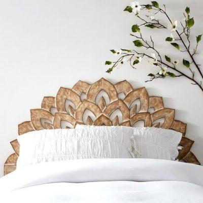 rustic headboard design for beds