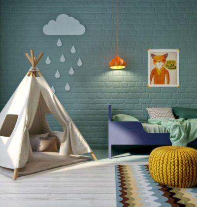kids bedroom design with teepee