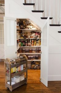 walk in pantry under stairs