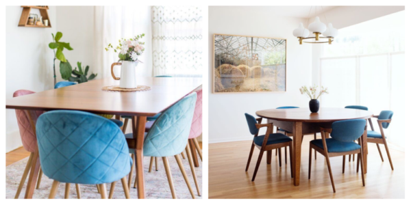 pastel themed furniture highlights