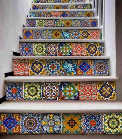 hexagonal cut out tile designs
