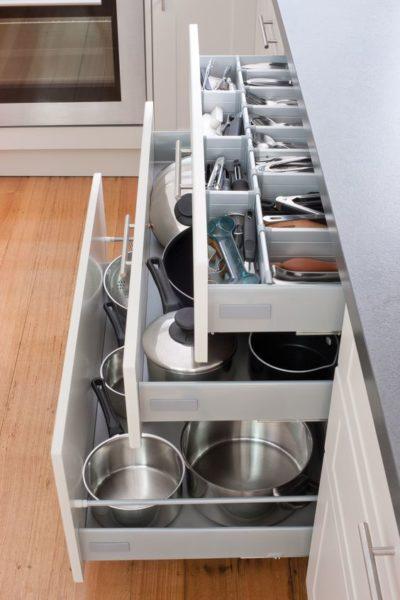 modular kitchen drawers