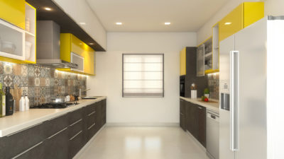 parallel modular kitchen type