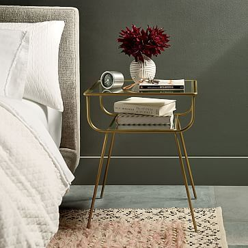 simple and elegant bedside table
