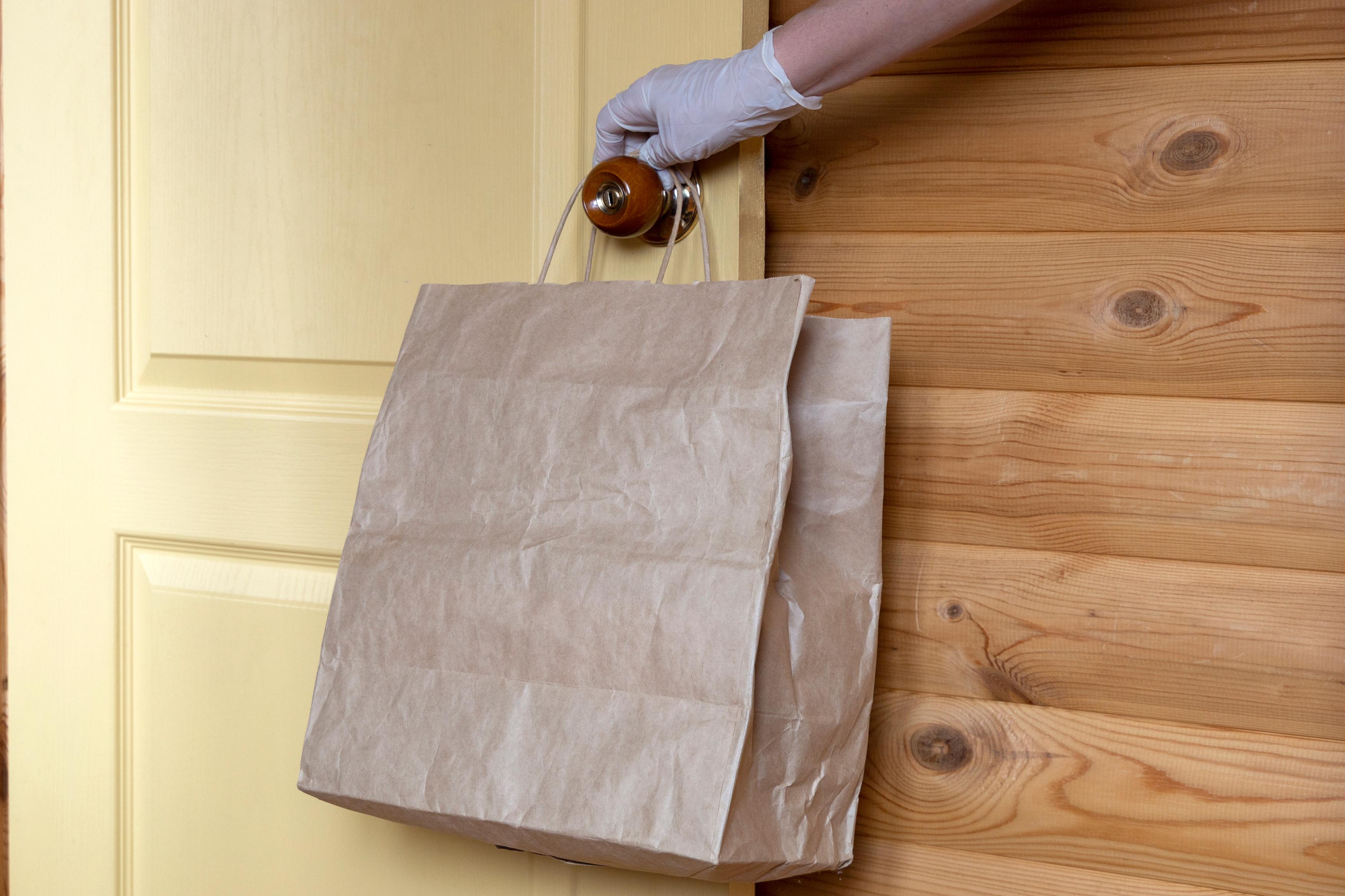 cleaning doorknob