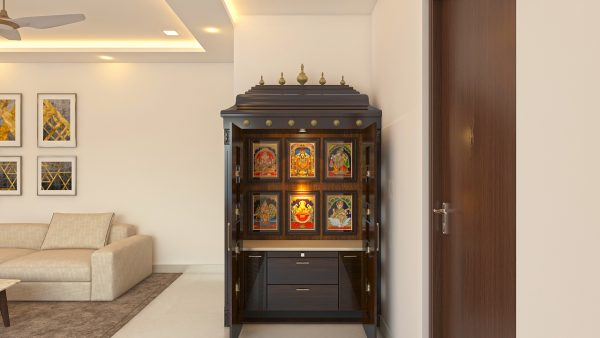 pooja cupboard designs for apartments