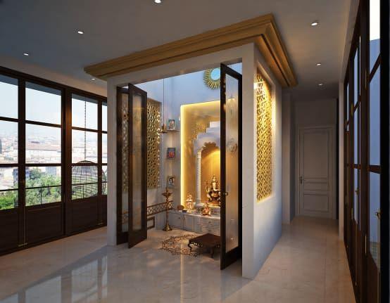 elegant pooja room design