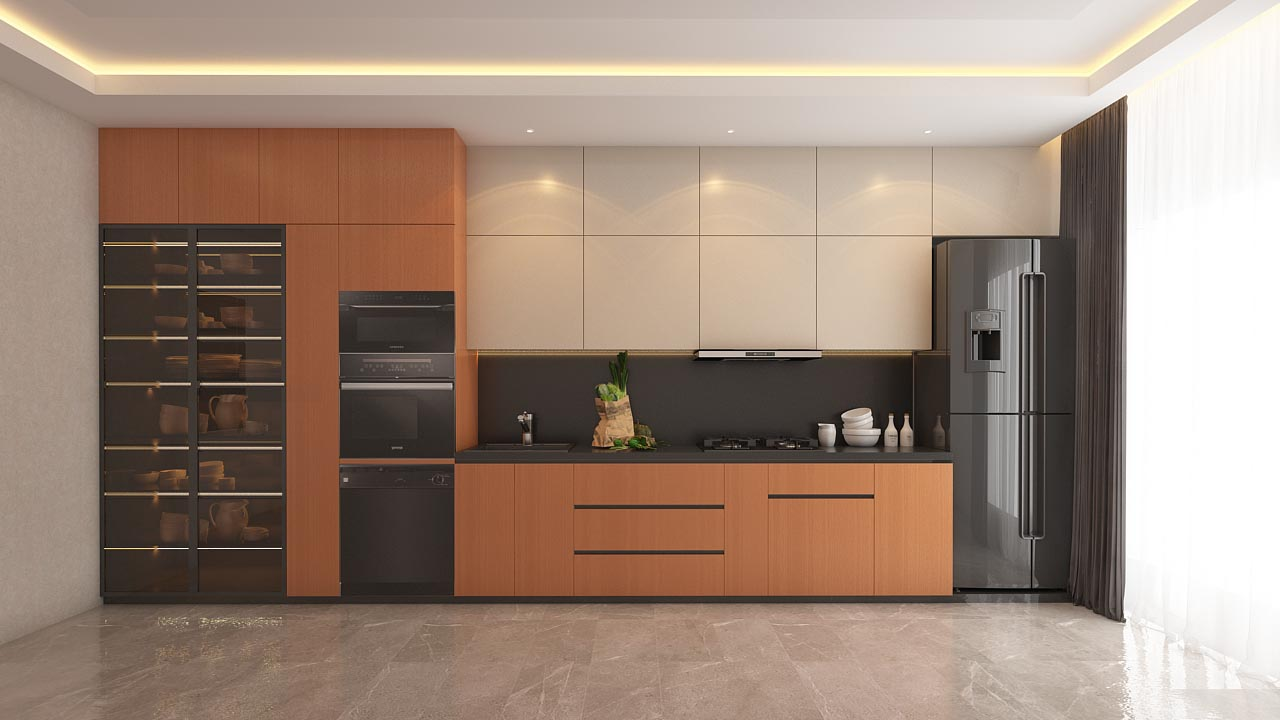 Modular Designs for a Contemporary Kitchen