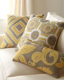 Damask print on pillows