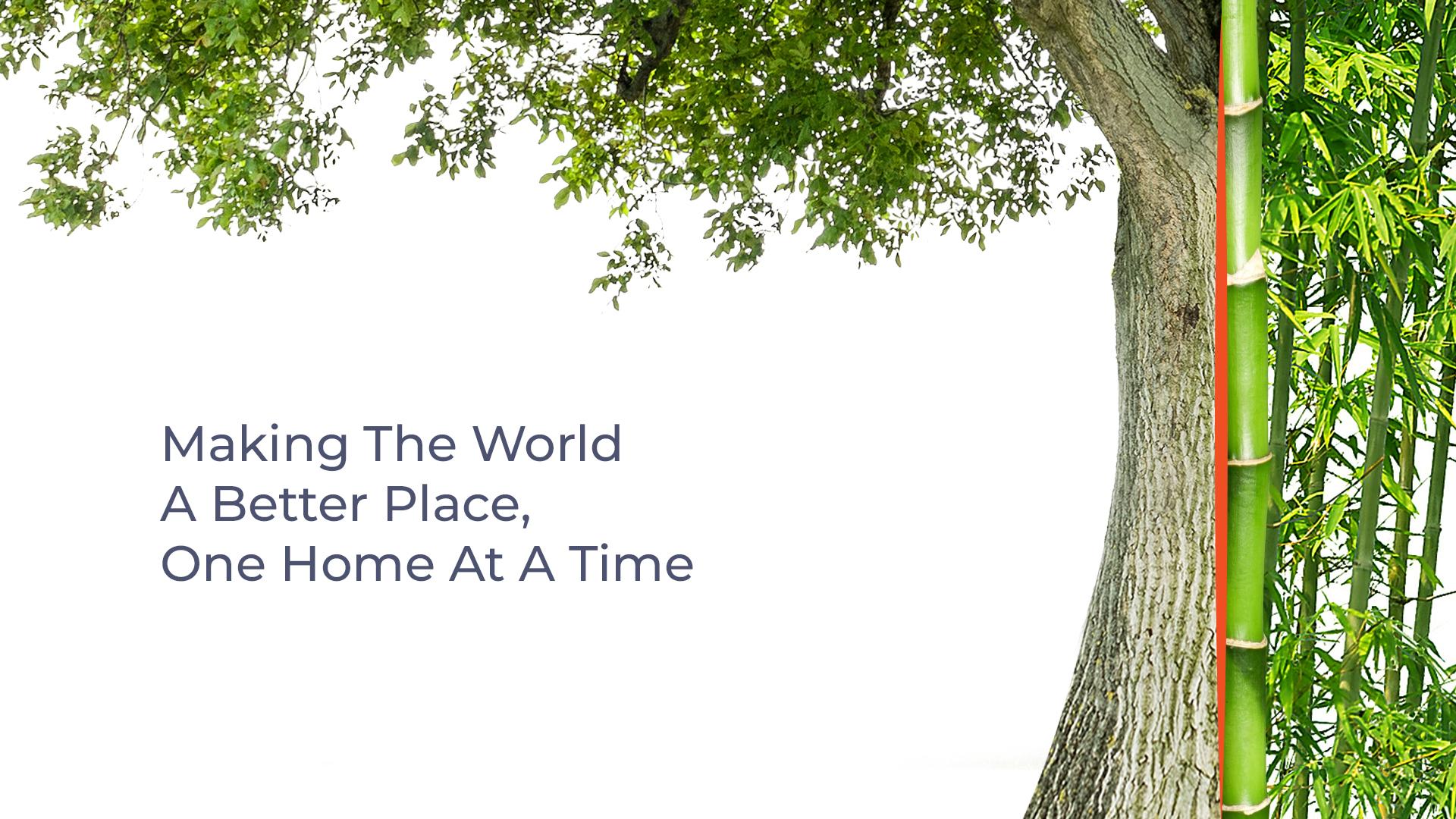 Blog banner for eco-friendly interior design
