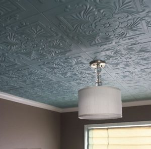 Textured ceiling tiles