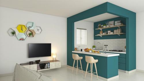 Studio kitchen view